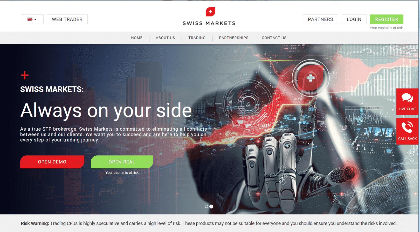 Swiss Markets Website