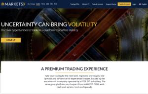 MarketsX Website Screenshot