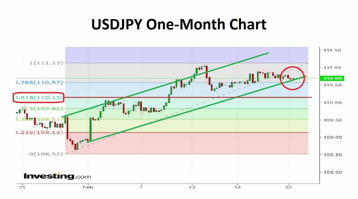 USDJPY One-Month 25-02-19