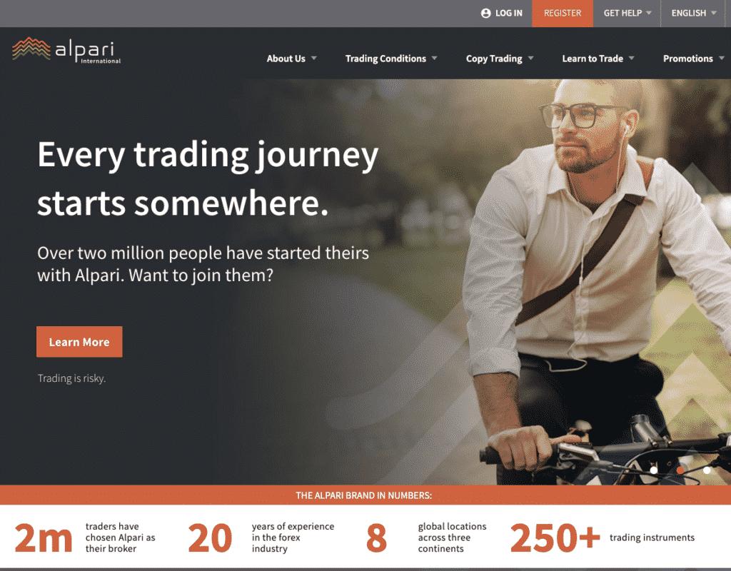 Alpari Website Screenshot
