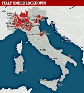 Italy lockdown - coronavirus