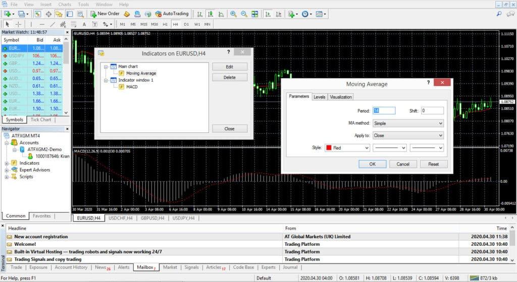 ATFX MT4 Screenshot