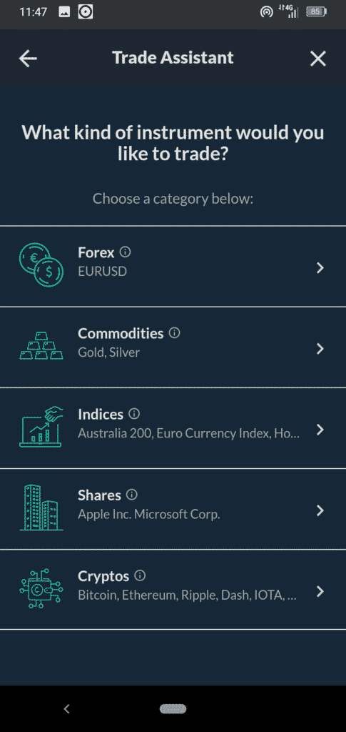 Skilling Mobile Trading App Screenshot