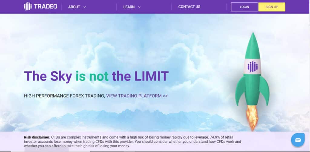 Tradeo Website