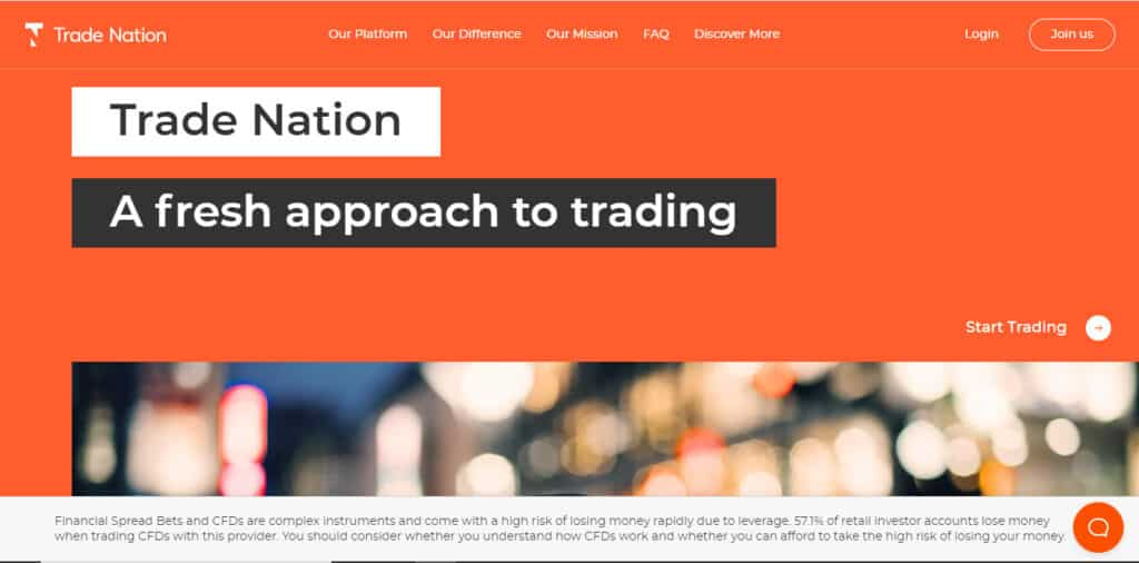 Trade Nation Website