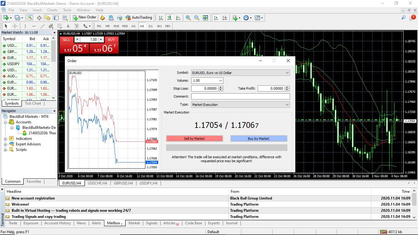 BlackBull Markets Trading Platform Screenshot
