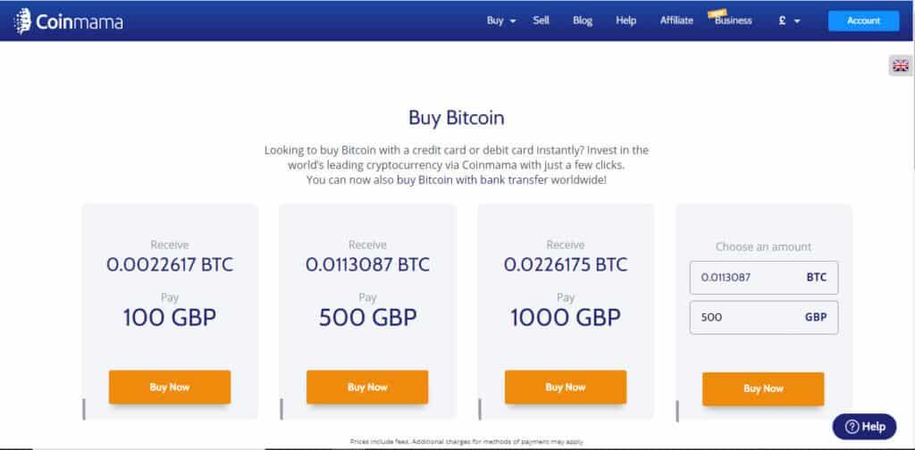 Coinmama Cryptocurrency Exchange Platform