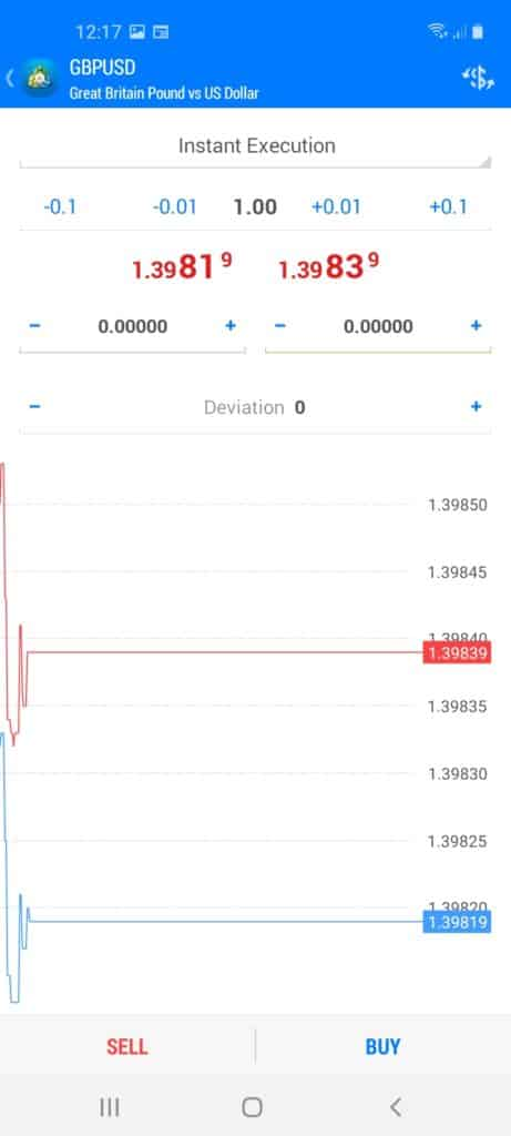 BlackBull Markets Mobile Trading App Screenshot