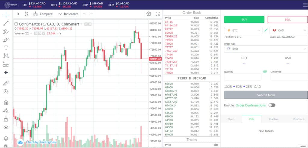 CoinSmart Cryptocurrency Exchange