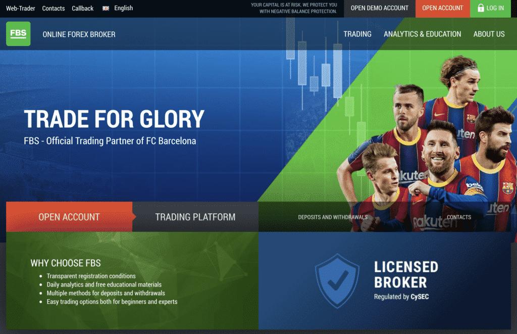 FBS Website screenshot