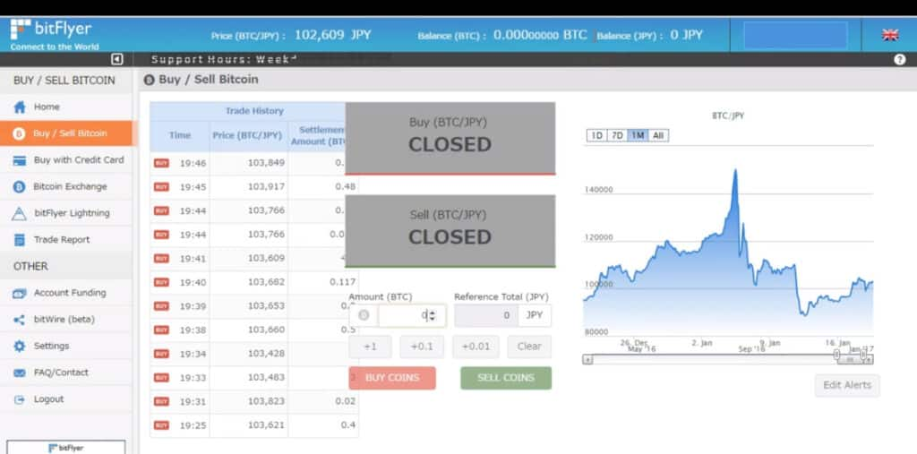 bitFlyer Cryptocurrency Exchange