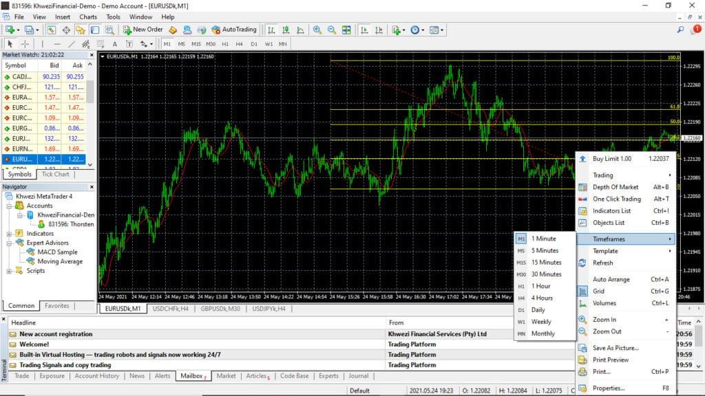 Khwezi Trade Trading Platform Screenshot